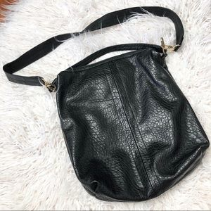 French Connection Black Leather Crossbody Bag